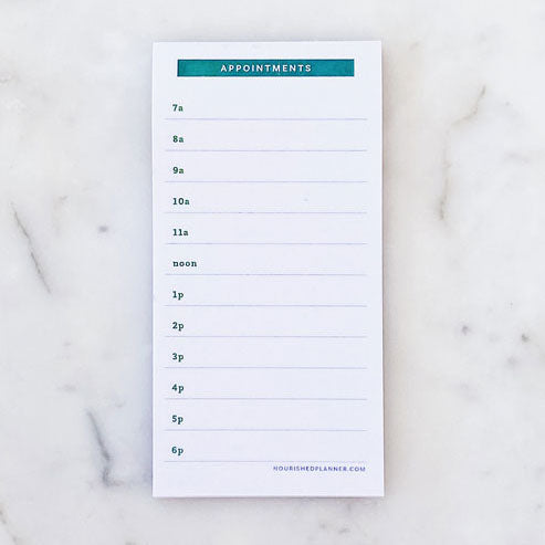 Appointment Planner Sticky Pad