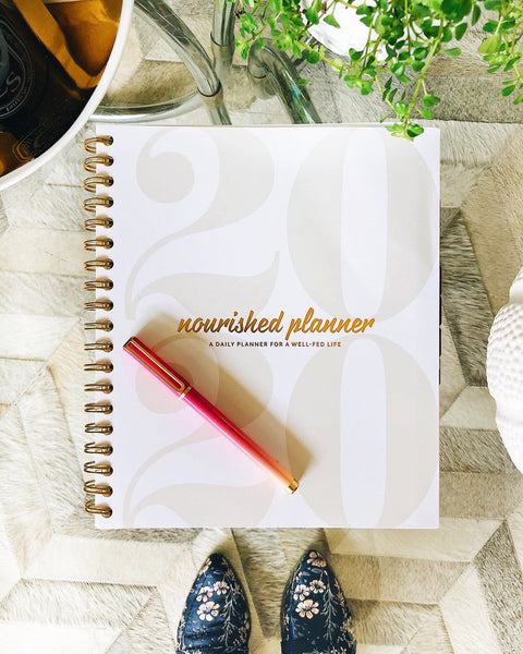 The Nourished Planner is your guide to inspiring and planning change. It delivers the tools to discover happiness through goal setting and prioritizing, to achieve your dreams no matter how big or small.