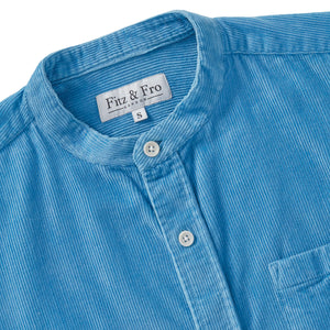 Cord Popover Shirt - Dusty Blue