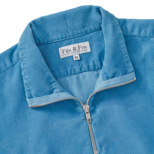 Dusty Blue Cord Half-Zip - Fitz & Fro