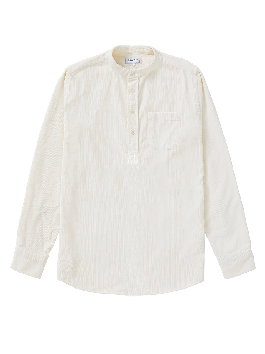 Cord Popover Shirt - Ivory White