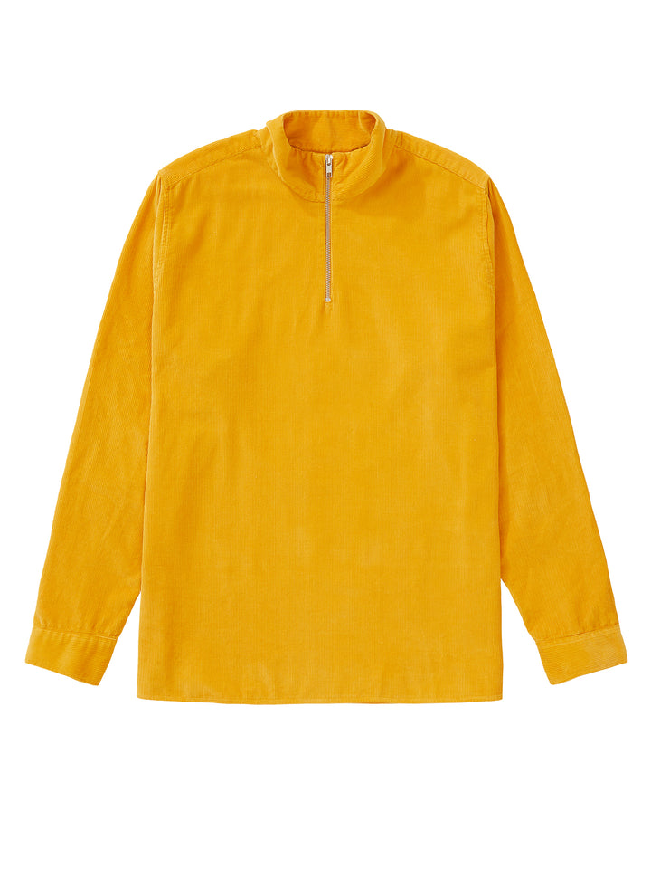 Cord Zip-Up - Burnt Yellow