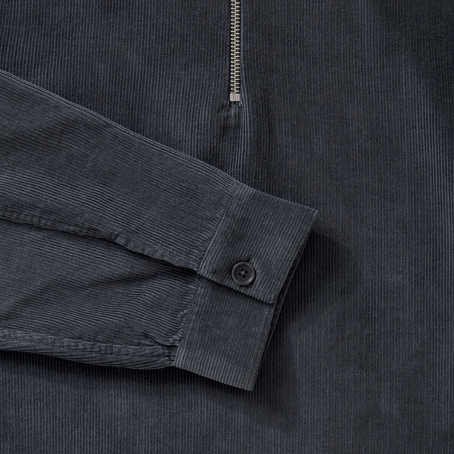 Cord Zip-Up - Charcoal Grey