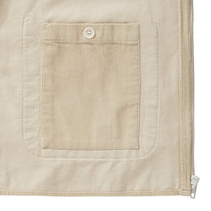 Light Stone Cord Zip-Up Overshirt - Fitz & Fro