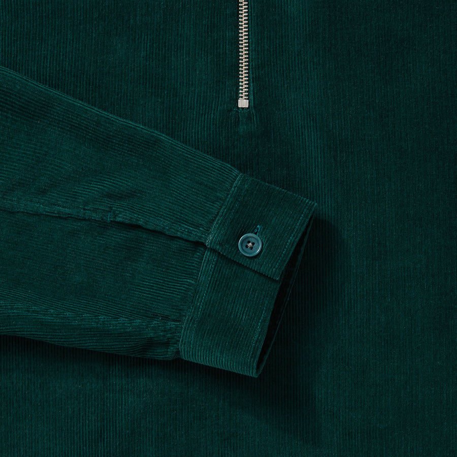 Cord Zip-Up - Bottle Green