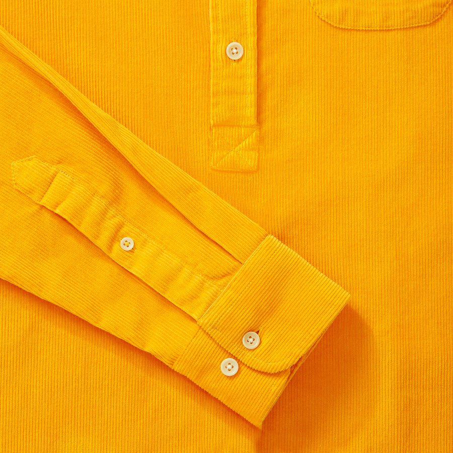Cord Popover Shirt - Burnt Yellow