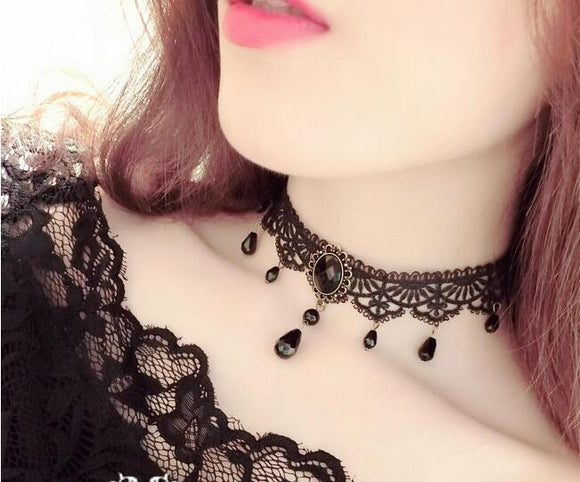 Fashion Black Velvet Choker Necklace for Women Statement Necklaces & Pendants