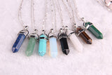 Natural stone pendant Bullet jade suspension Color Quartz necklaces