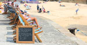 Deckchairs On St Ives Harbour Beach