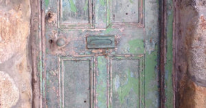 Green Door Of St Ives Cornwall