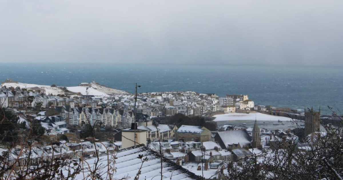 The Day It Snowed In St Ives Cornwall