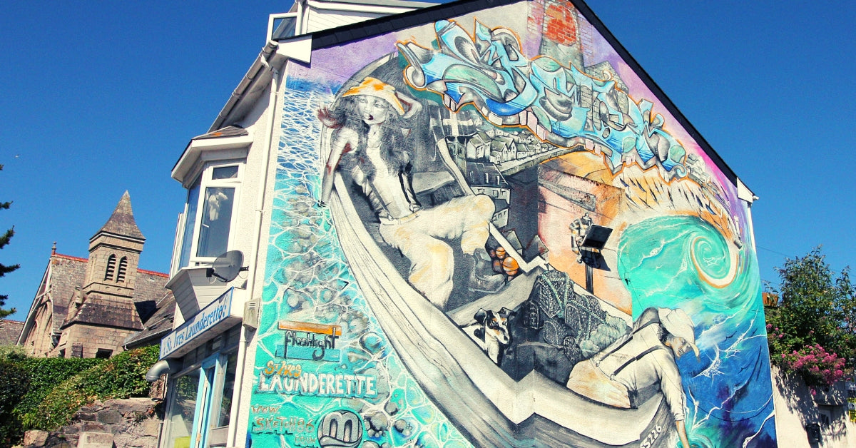 St Ives Launderette Mural - A Stunning Work Of Exterior Art