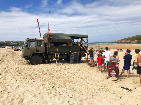 Crantock Beach Newquay Cornwall Coffee Truck