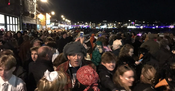 New Year's Eve St Ives Cornwall Crowds