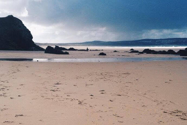 Gwithian Beach Hayle Cornwall View