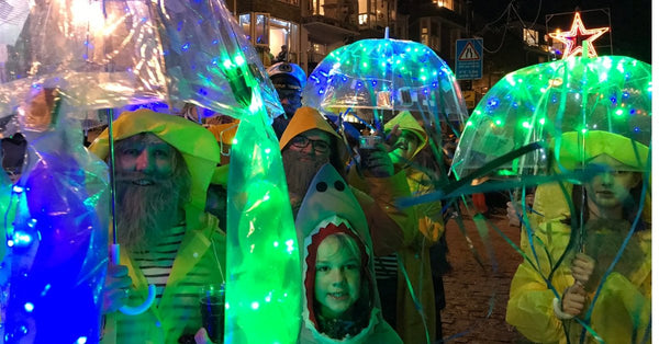 New Year's Eve St Ives Cornwall Jelly Fish Fancy Dress