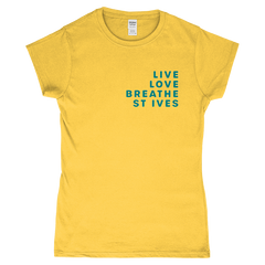 Live Love Breathe St Ives Ladies Fitted T-Shirt