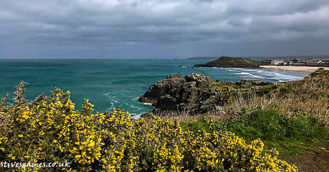 South West Coast Path Looking Back To Man's Head And The Island St Ives