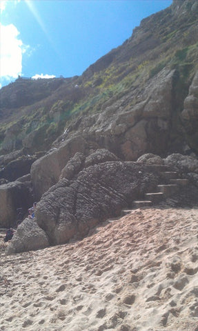 Porthcurno Beach Cornwall - Steps To The Minack Theatre