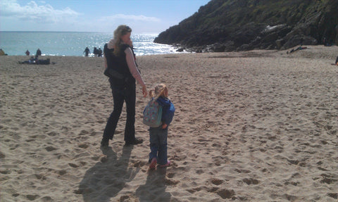 Porthcurno Beach Cornwall - Easter Sunshine