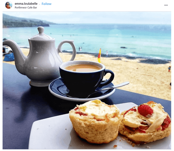 Cream Tea Porthmeor Beach Cafe St Ives Cornwall