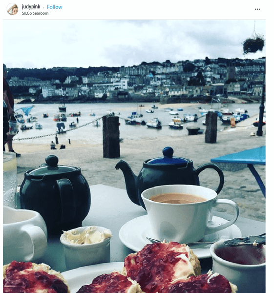 Cream Tea Silco St Ives Cornwall