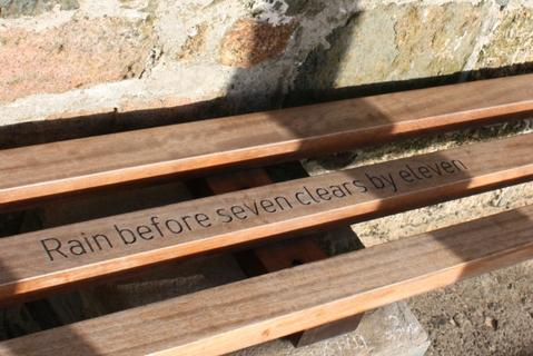 Smeaton's Pier St Ives Cornwall Benches