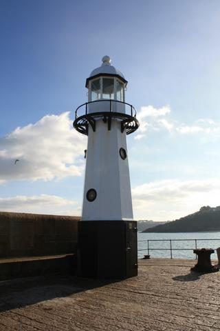 Smeaton's Pier St Ives Cornwall New Lighthouse