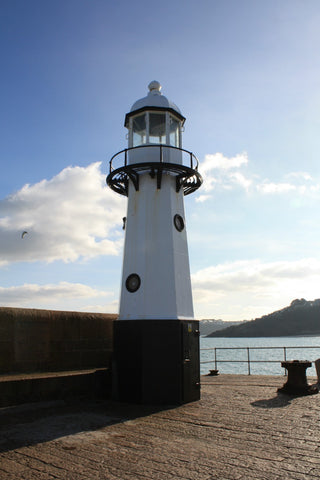 smeatons pier new lighthouse st ives cornwall