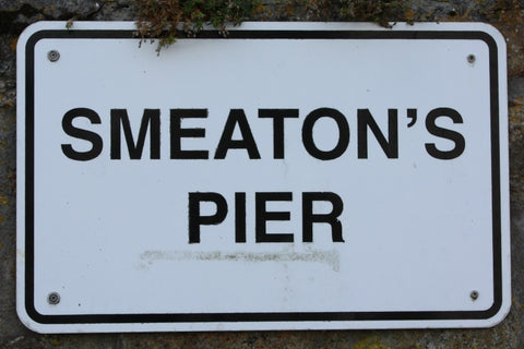 smeatons pier sign st ives cornwall