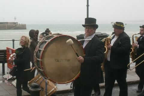 St Ives Feast Day Drummer