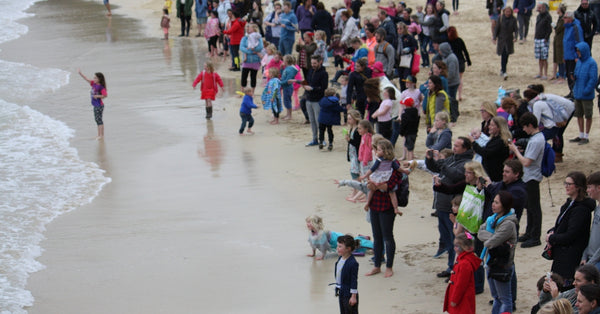 St Ives Mermaid Crowds On Porthminster Beach