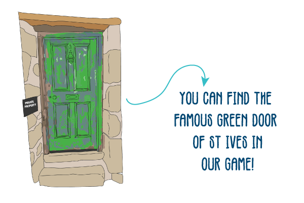 The Green Door Of St Ives Is On The Great St Ives Pasty Dash Game