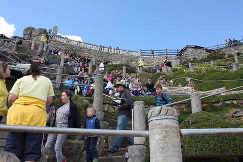 Porthcurno Beach Cornwall - The Minack Theatre - Busy
