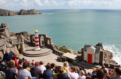 Porthcurno Beach Cornwall - The Minack Theatre - The Lighthouse Keepers Lunch Set