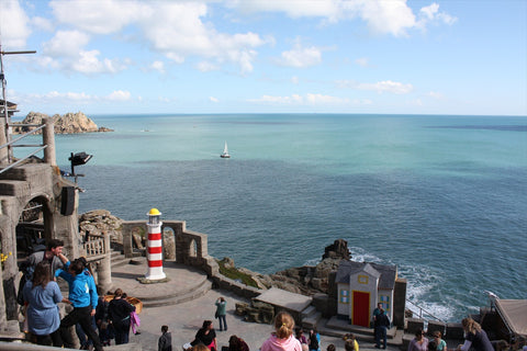 Porthcurno Beach Cornwall - The Minack Theatre - The Lighthouse Keepers Lunch - Catamaran