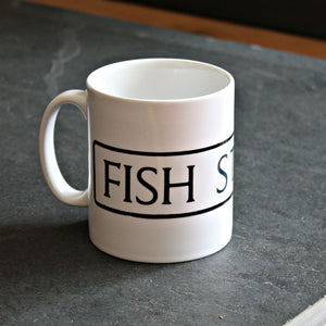 St Ives Street Sign Mug - Fish Street, St Ives Cornwall - St Ives By The Sea