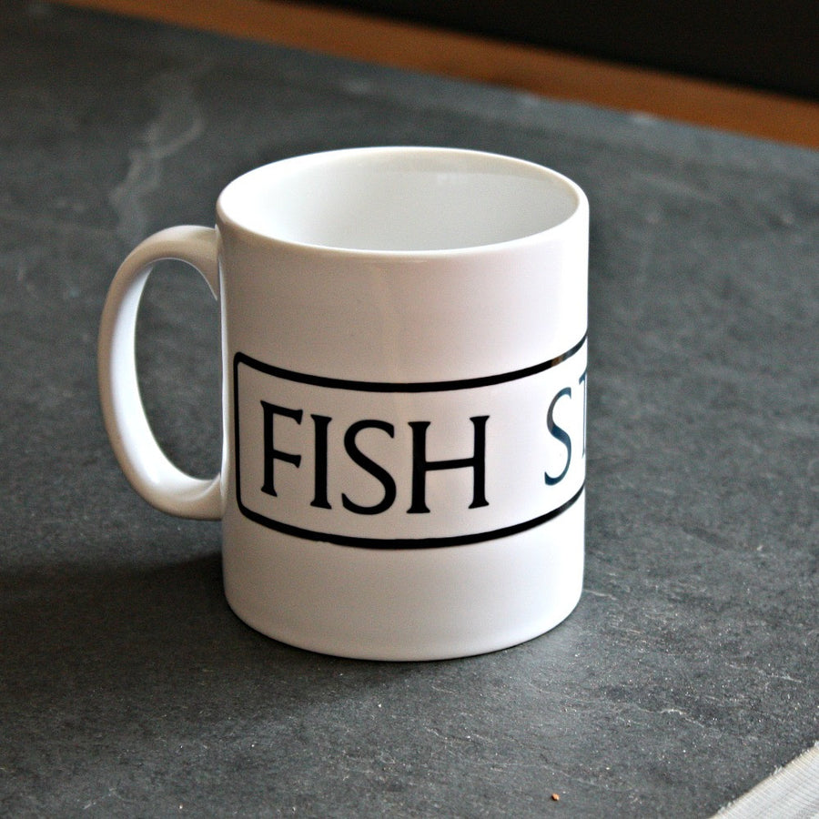St Ives Street Sign Mug - Fish Street, St Ives Cornwall - Jolly Cornwall