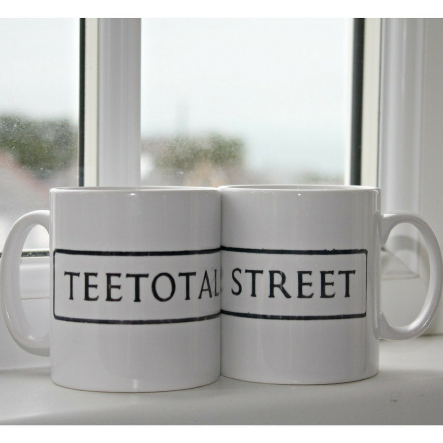 St Ives Street Sign Mug - Teetotal Street, St Ives Cornwall - Jolly Cornwall