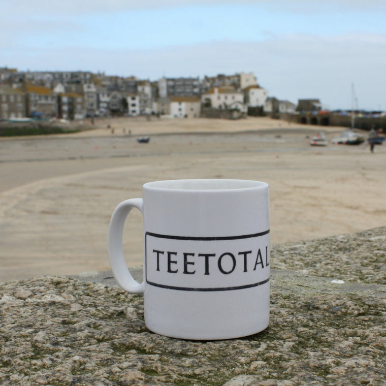 teetotal street st ives cornwall street sign mug