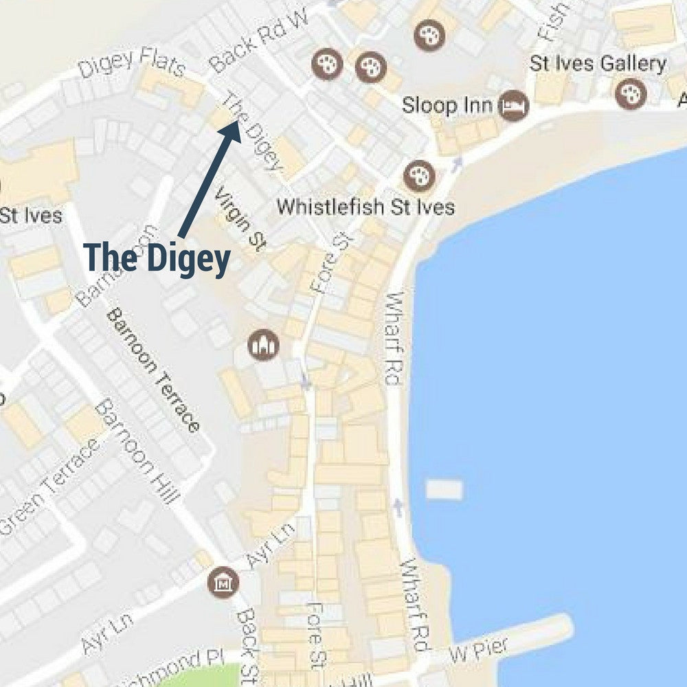 the digey st ives cornwall street sign mug map