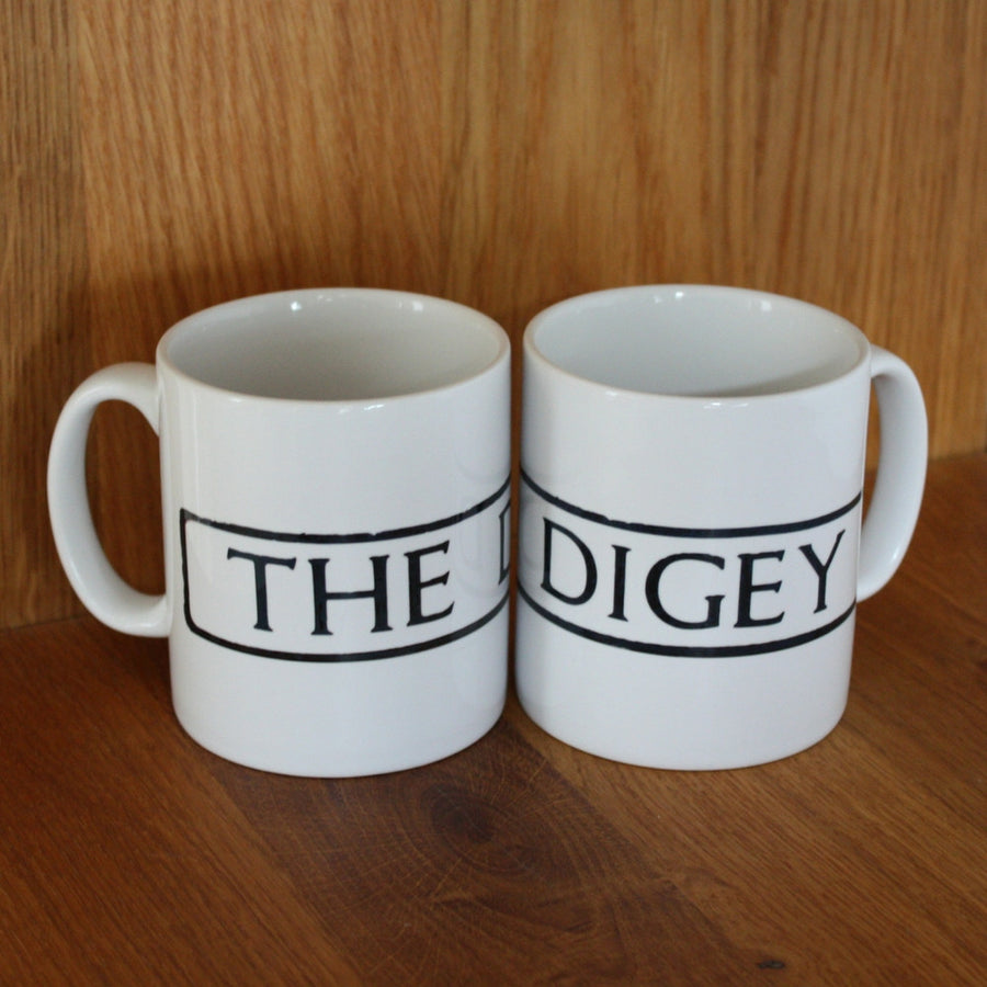 St Ives Street Sign Mug - The Digey, St Ives Cornwall - Jolly Cornwall