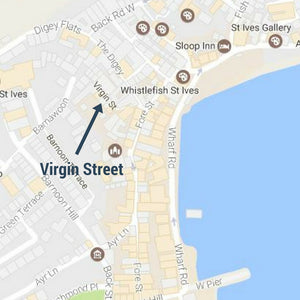St Ives Street Sign Mug - Virgin Street, St Ives Cornwall - St Ives By The Sea