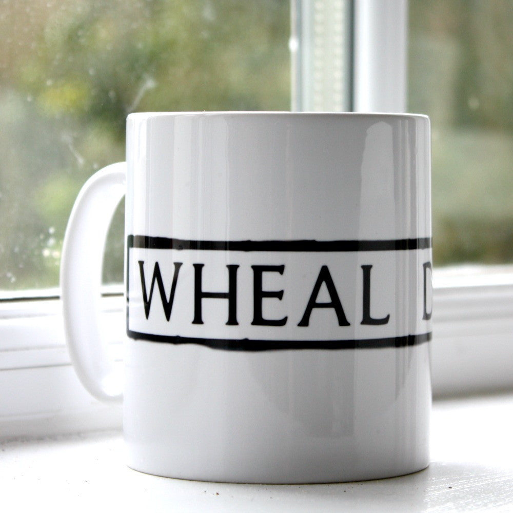 wheal dream st ives cornwall street sign mug