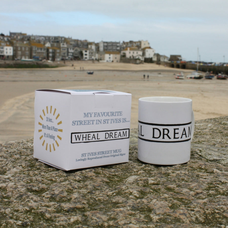 St Ives Street Sign Mug - Wheal Dream, St Ives Cornwall - Jolly Cornwall