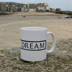 wheal dream st ives cornwall street sign mug dream