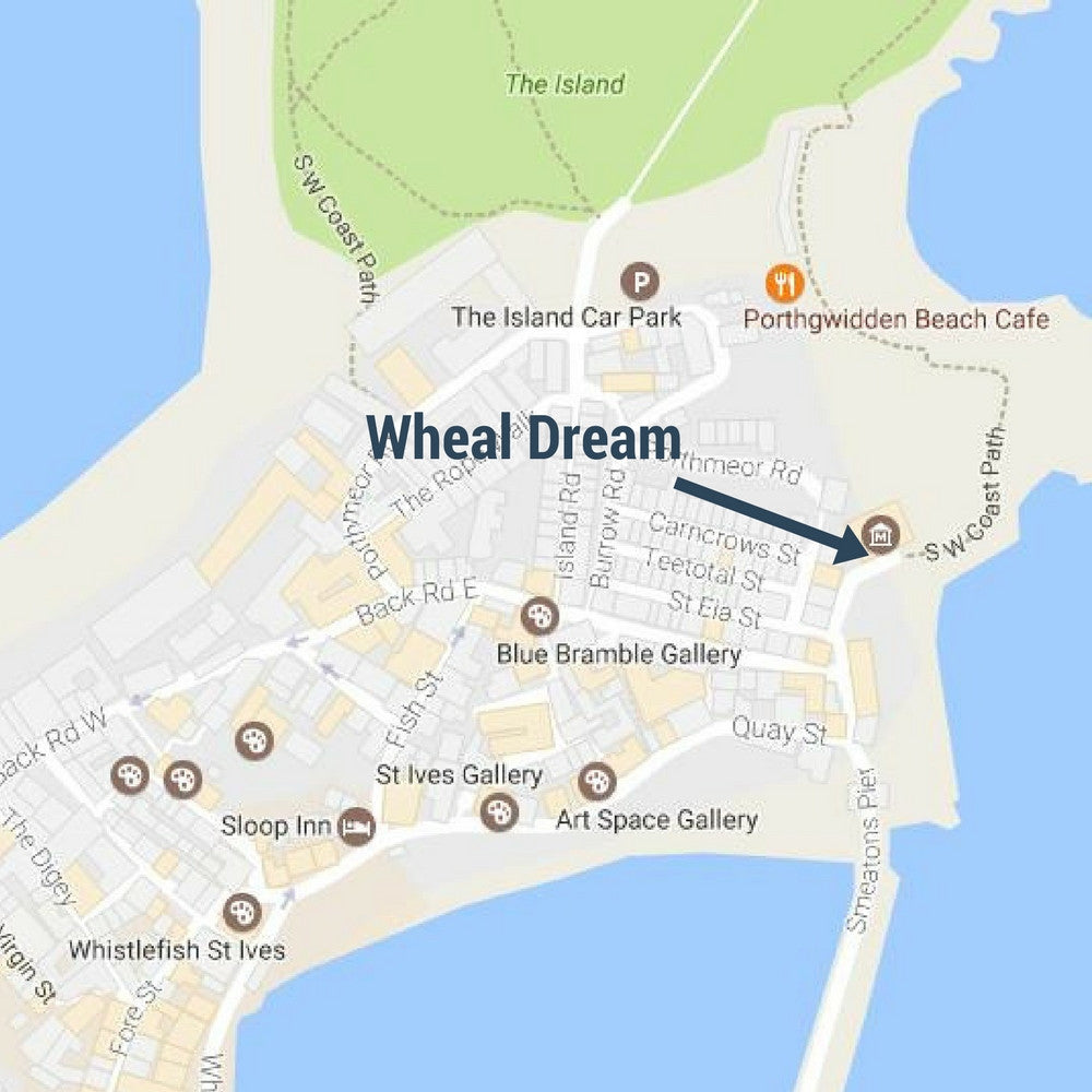 wheal dream st ives cornwall street sign mug map