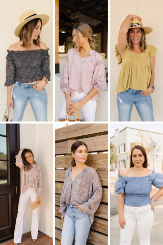 Collection of Spring tops from Fig & Willow