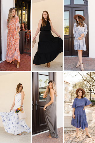 Casual Spring Dresses from Fig & Willow Boutique