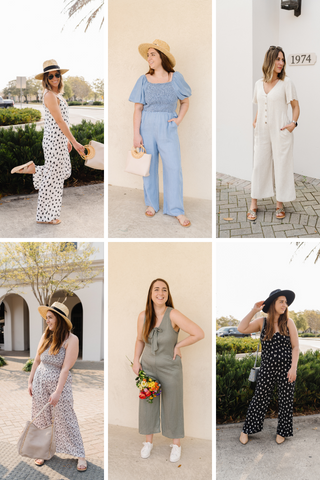 Spring jumpsuits and jumpsuit outfit ideas.
